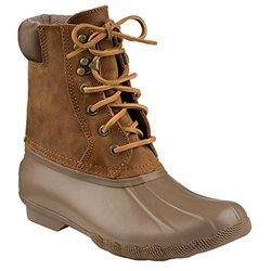 Sperry Top-sider Women's Shearwater Rain Boot (8 B(m) Us, Greige/tan)