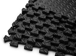 Puzzle Exercise Mat EVA Foam Interlocking Tiles - 6 Pk - 144 Square Feet