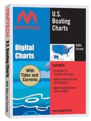 Maptech U.S. Boating Charts GPS Software DVD with Tides and Currents