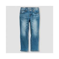 Cherokee Girl's Boyfriend Low Rise Jeans - Medium Blue - Size: 7