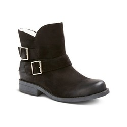 Mossimo Women's Tawny Shearling Ankle Boots - Black - Size: 10