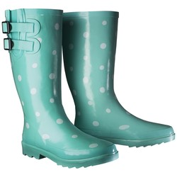 Women's Novel Dot Rain Boots - Mint - Size: 10