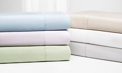 Wexley Home 800TC Cotton Rich Sheet Set: Pale Violet/Queen