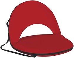 Naomi Home Portable Oceanside Recliner Seat, Red