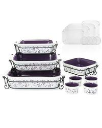 Cook's Companion 20-pc Ceramic Oven-to-Table Bake & Serve Set - Purple