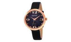 August Steiner Women's Diamond MOP Strap Watch - Blue Diamonds