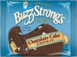 Buzz Strong's Whole Grain Chocolate Cake Cookie - Case of 60 - 1.5 oz.