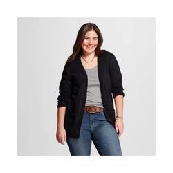 Mossimo Women's Plus Size Cardigans - Ebony - Size: Large
