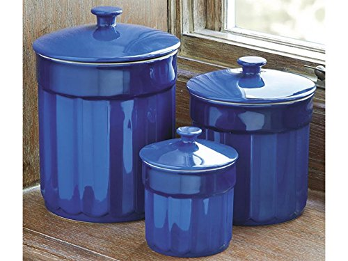 CHEFS Stoneware 3 Piece Kitchen Canister Set - Check Back Soon