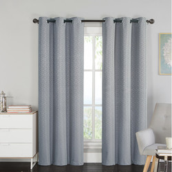 Luxury Home 2-Piece Set Blackout Panel Pair with Grommet - Charcoal -76x84