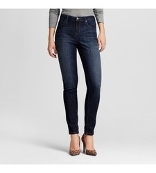 Mossimo Women's Mid Rise Skinny Jeans - Black - Size: 0 Long