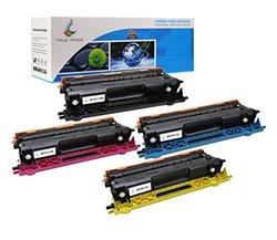 TRUE IMAGE Compatible Brother TN115 TN-115BK TN-115C TN-115M TN-115Y Toner Cartridge (Black, Cyan, Magenta, Yellow, 4 Pack)