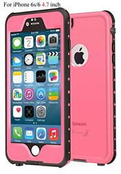 Sunwukin Best Waterproof Case for iPhone 6s/6 4.7 Inch, [New Arrival] Underwater Shockproof Snowproof Dirtpoof Protection Cover for 4.7 inches [Pink]