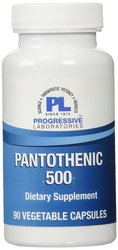 Progressive Laboratories Pantothenic Supplement 500mg Caps 90 Count