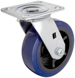 RWM Casters Plate Caster Nylon Wheel Stainless Steel Plate Roller Bearing