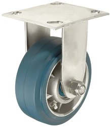 RWM Casters Plate Caster Aluminum Wheel Stainless Steel Plate Ball Bearing
