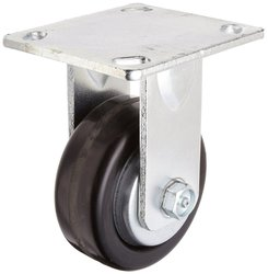 RWM Casters Plate Caster Rubber Wheel Stainless Steel Plate Ball Bearing