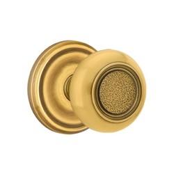 Emtek Belmont Knobs Passage Door Set - French Antique - Brass