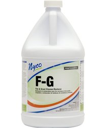 Nyco F-G Tile/Grout Cleaner & Restorer Case of 4 - 1 Gallon Bottle