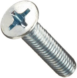 Small Parts Zinc Plated Finish Steel Machine Screw - Size: 12mm