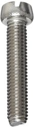 """Small Parts Plain Finish 18-8 Stainless Steel Machine Screw - Size: 1"""""""