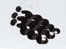"Human Hair DirectTM 100% Virgin Brazilian Human Hair Extensions BODY WAVE 3-Pack (20"", 22"", 24"") Bundle, 300g Total (100g each), Grade AAAAAA (#Virgin Color) with Argan Oil"