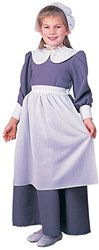 Rubie's Colonial Pilgrim Girl Child Costume - Blue/White - Size: Large