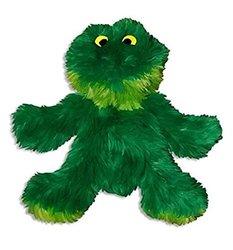 KONG Sitting Frog Dog Toy, Medium, Green