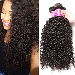 Unice Hair 3 Bundles Brazilian Curly Virgin Hair Weave
