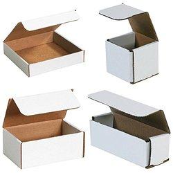 "Bauxko 6 1/2"" x 3 1/4"" x 1 1/4"" Corrugated Mailers, 12-Pack (MRX1XL)"