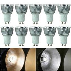 BYLIFE 10pcs Pack Dimmable 85-265V 5W GU10 LED Bulbs - 6000K Daylight Spotlight - 500 Lumen, 50 Watt Equivalent - 45 Degree Beam Angle