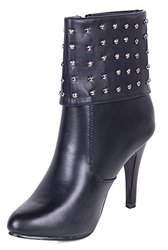 Women Ankle Boots: Zipper With Studs/10