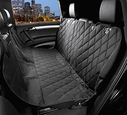 """EASYOWN Bucket Seat Cover Non-Slip Backing Wide Bench Car Seat Protector. Machine Washable - 58""""L x 54""""W- Black"""