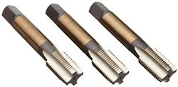 "Dormer E0715/16NO6 General Purpose Hand Taps Set, Bright Coating, TPIUNF24, Full Length 2.23/32"", Nominal D 5/16, Flute Length 0.7700"", Shank Diameter 0.3180"""