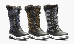 Sociology Sophia Cold Weather Quilted Winter Boot: Olive/8