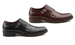 The Mock Monk Strap Shoe: Burgundy/ 7.5