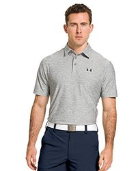 Under Armour Elevated Heather Polo: Gray, Large