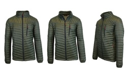 Spire by Galaxy Men's Lightweight Puffer Jacket - Olive - Size: Large