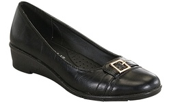 Rasolli Women's Lizy Low-Wedge Slip-On Comfort Shoes - Black - Size: 6