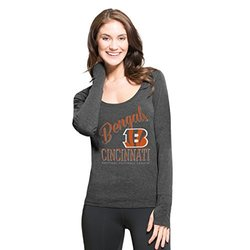 NFL Cincinnati Bengals Women's Long Sleeve Tee - Shift Black - Size: Small