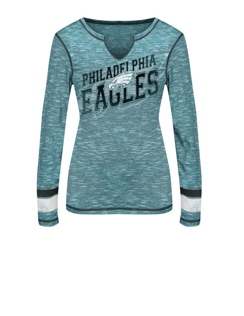 aeb37e31 NFL Women's Philadelphia Eagles Long Sleeve Tee - Marine Green - Size: S