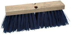 Tranis Brush Regal Wood Block Slim Street Broom Head 6 Pks -Blue