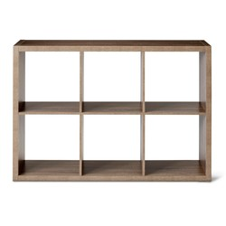 Threshold 6 Cube Storage Organizer Shelf - Gray