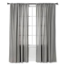 "Threshold Panel Linen-Look Curtain - Grey - Size: 54"" x 95"""