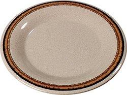 """Carlisle Durus 9"""" Wide Rim Dinner Plates - Sierra Sand on Sand - Set of 24"""