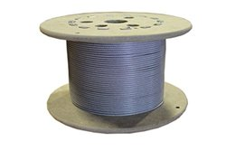 Loos Galvanized Steel Wire Rope Nylon Coated 7x7 Strand Core - Natural