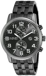 August Steiner Mens' Watch: Black-asgp8175bk