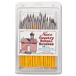 Nasco Country School Detail Round Brush 72 Pcs Set