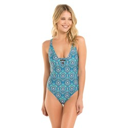 Shade & Shore Women's Strappy One Piece Swimsuit - Blue - Size: 6