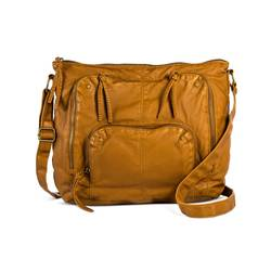 Mossimo Women's Faux Leather Hobo Handbag - Cognac